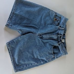 Disney Shorts - VTG Mickey Inc Disney Jean Shorts Embroidered
